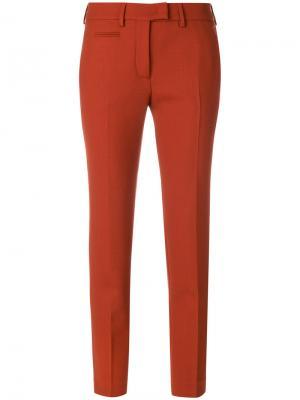 Укороченные суженные книзу брюки Incotex. Цвет: жёлтый и оранжевый