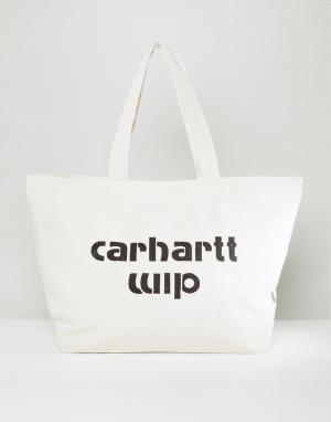 Carhartt Светло-бежевая сумка-тоут WIP Bronc. Цвет: бежевый
