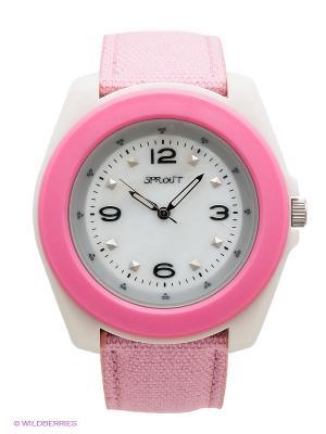 Часы Sprout. Цвет: бледно-розовый