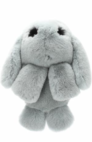 Рюкзак из меха кролика Yves Salomon Enfant. Цвет: голубой