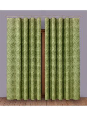 Комплект штор P Primavera Firany. Цвет: зеленый