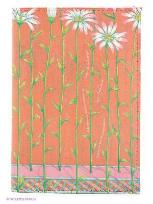 Обложка для автодокументов Ромашки на красном Mitya Veselkov. Цвет: коралловый, зеленый
