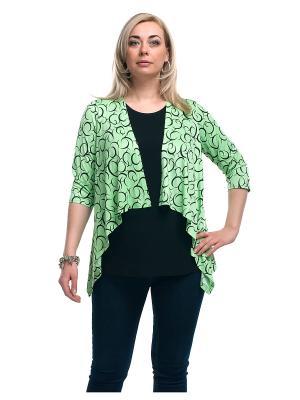 Блуза OLSI. Цвет: салатовый, черный