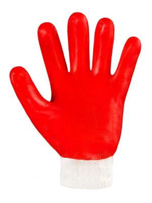 Перчатки х/б с ПВХ покрытием МБС Гранат ЭТАЛОН. Цвет: красный