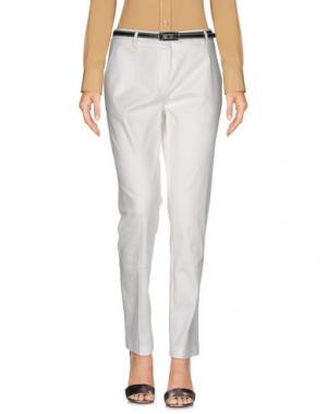 Повседневные брюки MYF. Цвет: белый