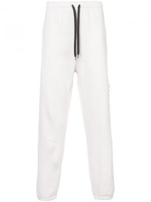 Спортивные брюки Large Script Second/Layer. Цвет: розовый и фиолетовый
