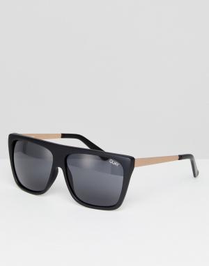 Quay Australia Черные квадратные солнцезащитные очки OTL II. Цвет: черный