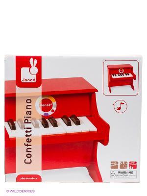 Пианино (дерево), красное Janod. Цвет: темно-красный, красный