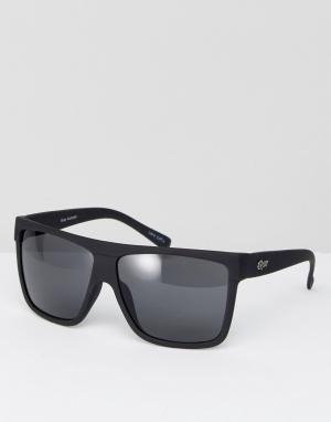 Quay Australia Квадратные солнцезащитные очки Barnun. Цвет: черный