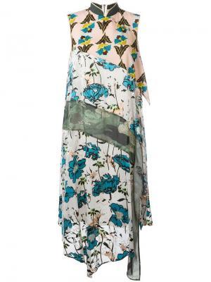 Платье с цветочным принтом Antonio Marras. Цвет: многоцветный
