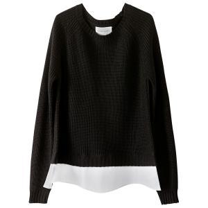 Пуловер с круглым вырезом из тонкого трикотажа SUD EXPRESS. Цвет: черный