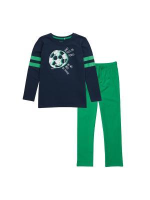 Пижама Endo. Цвет: темно-синий, зеленый