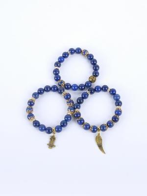 Браслет Jana Duff М6471 цвет синий, золотой. Цвет: синий