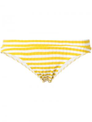 Верх бикини  Madison Solid & Striped. Цвет: жёлтый и оранжевый