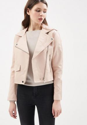 Куртка кожаная Paccio. Цвет: розовый