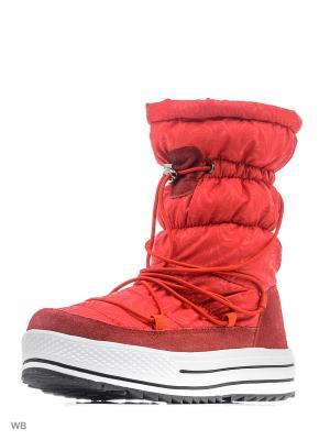 Дутики Mon Ami. Цвет: красный