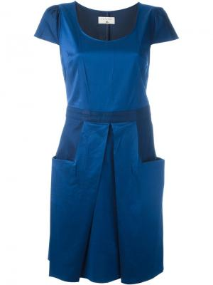 Платье с короткими рукавами Cotélac. Цвет: синий