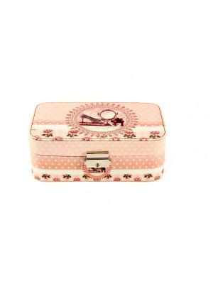 Шкатулка для ювелирных украшений 20*13*7см Русские подарки. Цвет: розовый