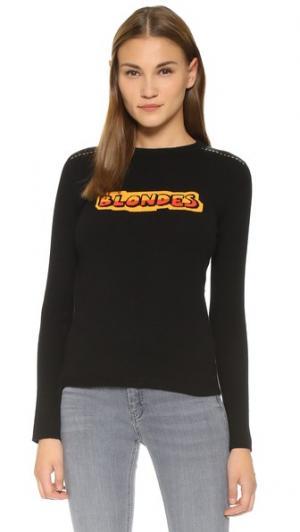 Кашемировый свитер Blondes Bella Freud. Цвет: голубой