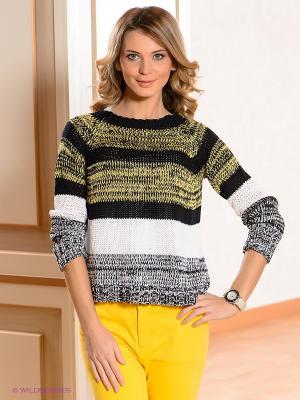 Джемпер Lisa Campione. Цвет: черный, белый, желтый