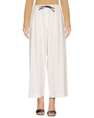 Повседневные брюки ISABEL BENENATO. Цвет: белый