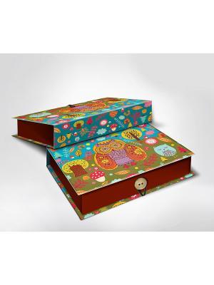 Подарочная шкатулка-коробка СОВУШКИ M Magic Home. Цвет: бирюзовый, хаки, светло-коричневый