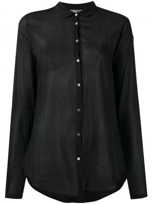 Полупрозрачная рубашка Forte. Цвет: чёрный