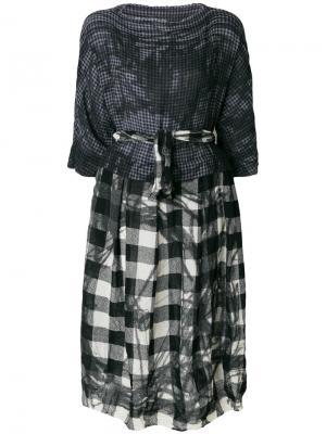 Декорированное платье-миди Daniela Gregis. Цвет: серый