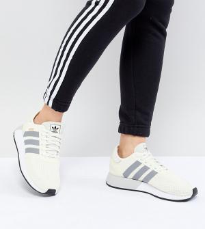 Adidas Originals Светло-бежевые кроссовки для бега N-5923. Цвет: белый