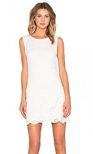 Кружевное платье flower felange LA Made. Цвет: белый