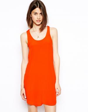 Шелковое платье-майка  Tracy S.Y.L.K. Цвет: оранжевый