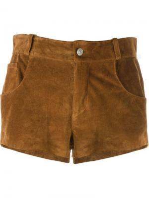 Короткие шорты с бахромой Au Jour Le. Цвет: коричневый