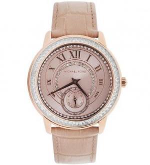 Кварцевые часы с инкрустацией кристаллами Michael Kors