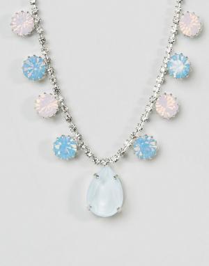 Krystal Ожерелье с подвеской и кристаллами Swarovski от. Цвет: розовый