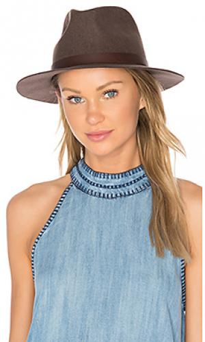 Шляпа федора hopkins Brixton. Цвет: коричневый