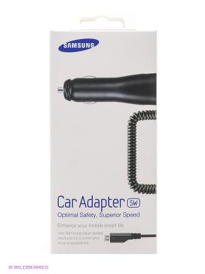 Автомобильное зарядное устройство с кабелем micro USB 1A Samsung. Цвет: черный