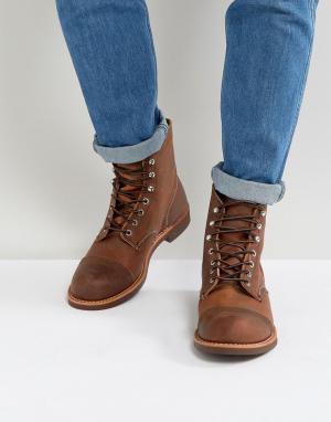 Red Wing Кожаные ботинки медного цвета со шнуровкой Iron Ranger. Цвет: коричневый