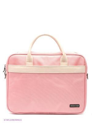 Сумка для ноутбука Cross Case. Цвет: розовый