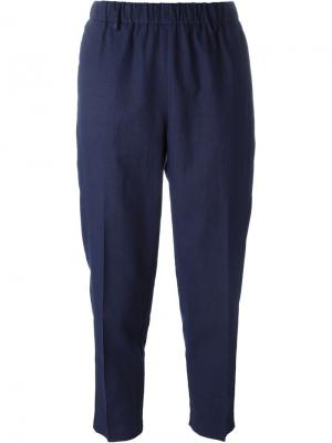 Укороченные зауженные к низу брюки Forte. Цвет: синий