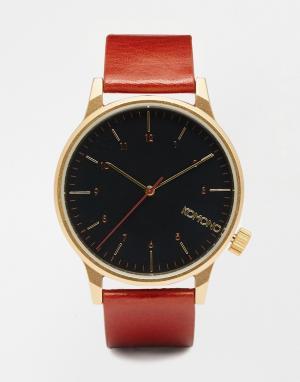 Komono Коричневые часы Winston Regal. Цвет: коричневый