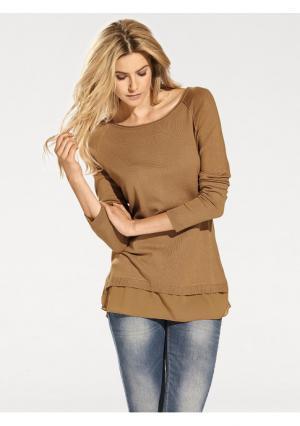 Пуловер B.C. BEST CONNECTIONS by Heine. Цвет: серо-коричневый, серый меланжевый, черный, экрю