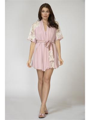 Халат Petit Pas. Цвет: бледно-розовый