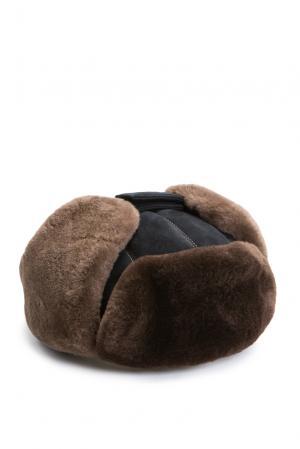 Замшевая шапка с отделкой из меха шиншиллы 158180 Zilli. Цвет: разноцветный
