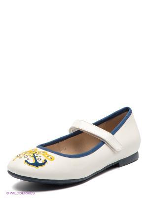 Туфли Bagira. Цвет: белый, синий