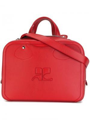 Средняя сумка-тоут Courrèges. Цвет: красный