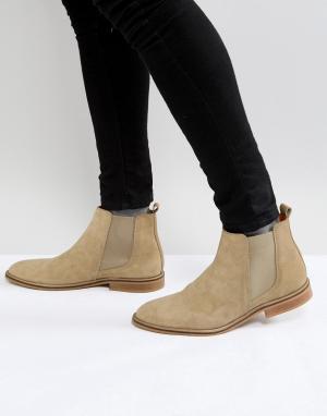 Good For Nothing Светло-коричневые замшевые ботинки челси. Цвет: рыжий