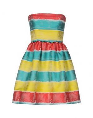 Короткое платье NORA BARTH. Цвет: бирюзовый