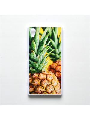 Чехол для Sony Xperia Z5 Ананас Boom Case. Цвет: светло-зеленый, светло-желтый