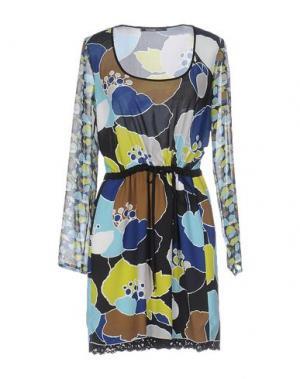 Короткое платье PIANURASTUDIO. Цвет: темно-синий