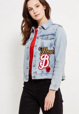 Куртка джинсовая Jennyfer. Цвет: голубой